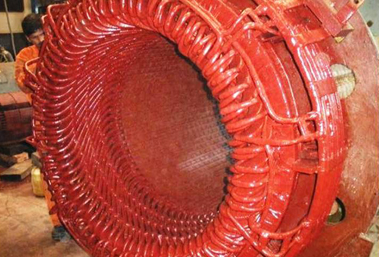 Rewinding of 10 MW,11 KV BHEL Make Stator